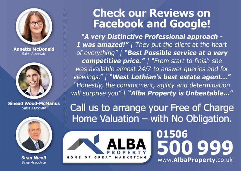 Alba Property Broxburn Advert